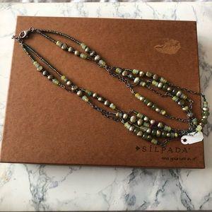Silpada Jade & Pearl Necklace